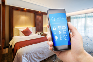 Smart Phone in Hotel Image