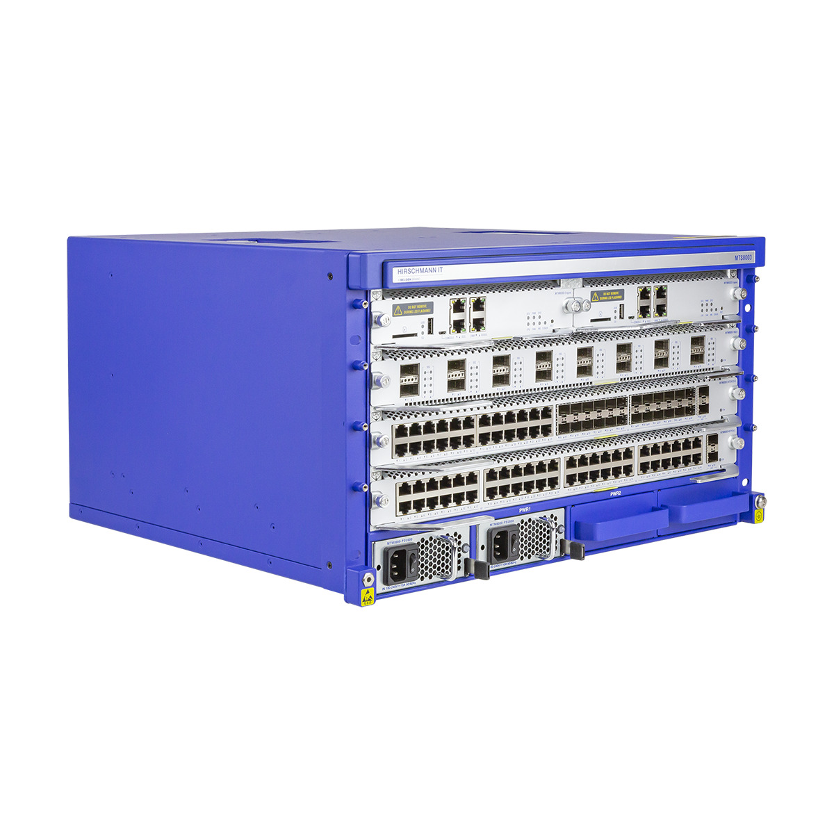 MTS8000 Managed Ethernet Switch Side View