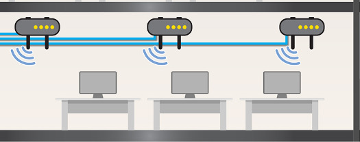 Wi-Fi Access Point Line Drawing