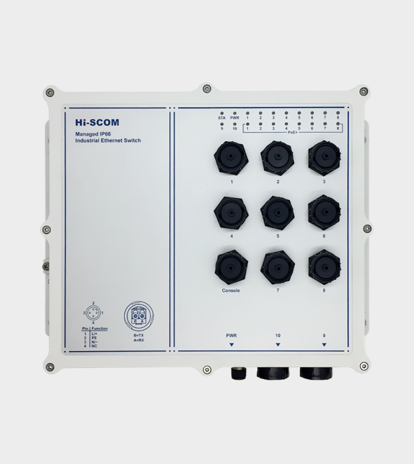 Hi-Scom IP66 PoE Series Industrial Ethernet Switch - Dust & Water Proof