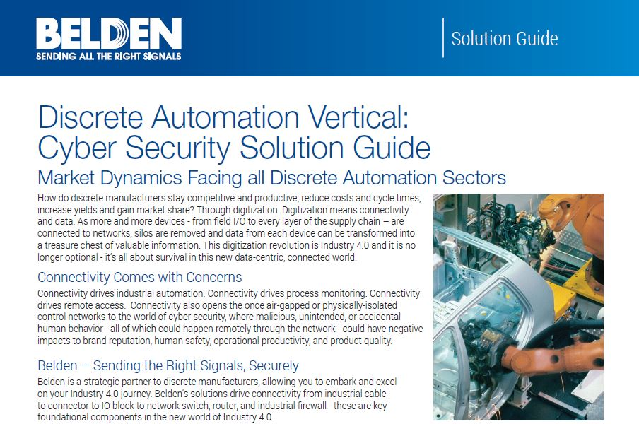 Cyber Security Discrete Automation
