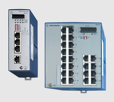 Unmanaged Industrial DIN Rail Ethernet Switches - RS20/30 Series