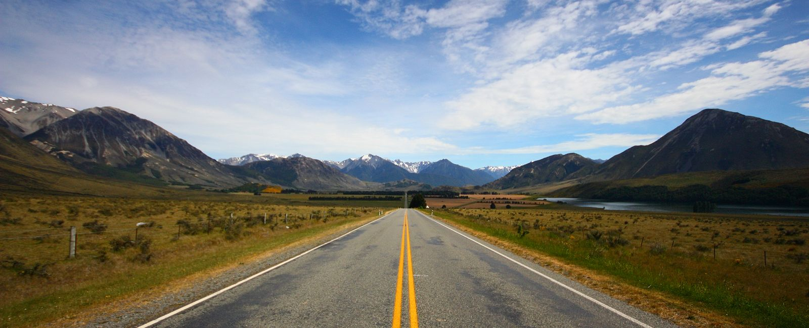 long road into the mountains