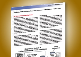 Garrettcom Dx Routers Deliver Secure Data Eastern Iowa Light Power Application Note