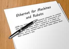 Ethernet for Machines and Robots