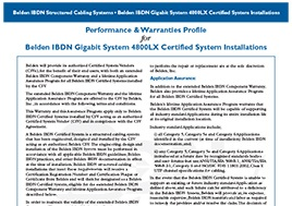 4800 System Certification