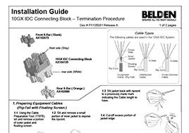 10GX IDC Connecting Block - Termination Procedure