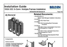 10GX IDC X-Conn. Multiple Frames Installation