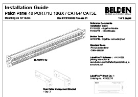 48-port/1U Patch Panel Installation Guide
