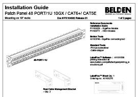 48-port/1U Patch Panel Installation Guide