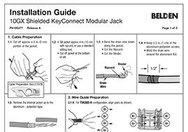Terminating 10GX Shielded KeyConnect Modular Jack