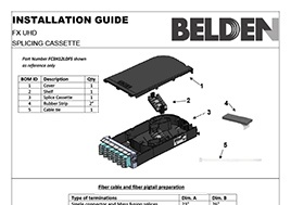UHD Splice Cassette Installation Guide