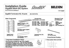 GigaBIX Termination Kit, 72-ports