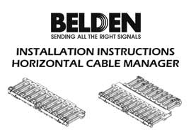 Horizontal Cable Manager Installation Instructions
