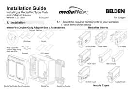 Installing MediaFlex plates and boxes