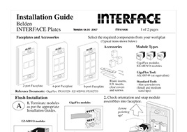 Interface Plates Installation Guide