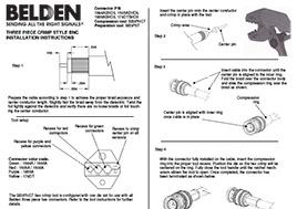 3-pc. Crimp HD-BNC Installation Instructions