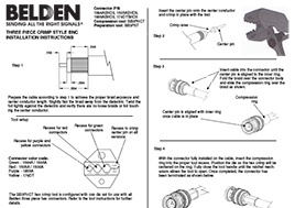 3-pc. Crimp HD-BNC Installation Instructions
