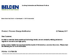 AS-Interface Junction Branches Product Change Notification