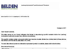 LioN-Link End of Life Letter