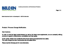 M12-Power Family Product Change Notification