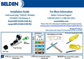 CAT 6A Plug PX106201 Installation Guide