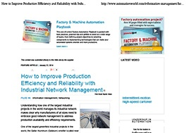 How to Improve Production Efficiency and Reliability with Industrial Network Management