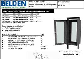 Belden SecurePATCH, Security door system