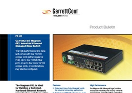 6Kl Industrial Ethernet Managed Edge Switch Product Bulletin