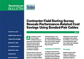 Bonded Pair Contractor Field Testing Survey