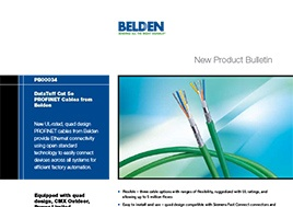 Cat 5E Profinet Cables New Product Bulletin