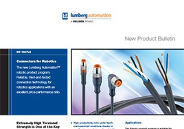 Connectors For Robotics New Product Bulletin