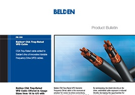Csa Tray Rated Vfd Cable Product Bulletin