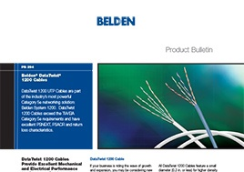 Data Twist 1200 Cables Product Bulletin