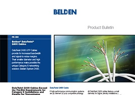 Data Twist 2400 Cables Product Bulletin