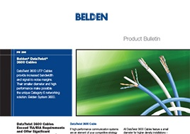 Data Twist 3600 Cables Product Bulletin