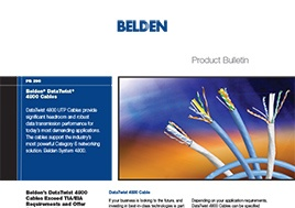Data Twist 4800 Cables Product Bulletin