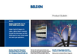 Datatuff Cat 5E 600V Awm Rated Cable New Product Bulletin