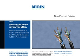 Datatuff Industrial Ethernet Cables Cc Link Ie Field Networks New Product Bulletin