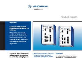 Eagle20 30 Industrial Firewalls With Hisecos 3.0 Software Product Bulletin