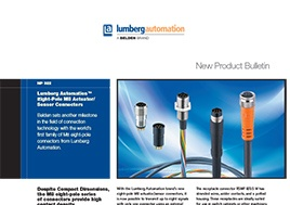 Eight Pole M8 Actuator Sensor Connectors New Product Bulletin