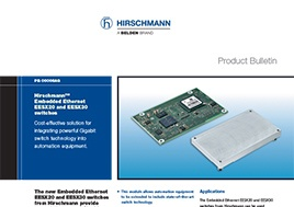Embedded Ethernet Eesx20 And Eesx30 Switches Product Bulletin