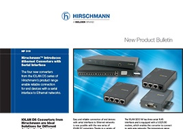 Ethernet Converters With Serial Interface New Product Bulletin