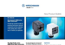 Gdm Series Valve Connectors Product Bulletin