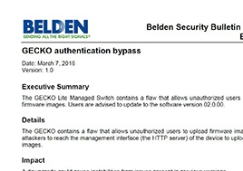 Gecko Authentication Bypass Security Bulletin