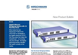 Gigabit Ethernet Workgroup Switch With 16 Poe Plus Ports Product Bulletin