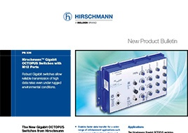 Gigabit OCTOPUS Switches with M12 Ports New Product Bulletin