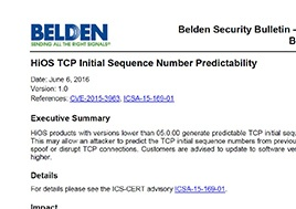 Hios Tcp Initial Sequence Number Predictability Security Bulletin