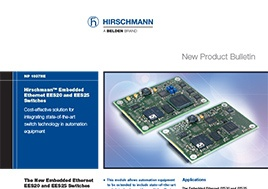 Hirschmann Embedded Ethernet Ees20 And Ees25 Switches New Product Bulletin