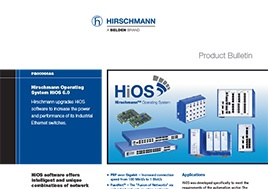 Hirschmann Ioerating System Hios 6.0 Product Bulletin